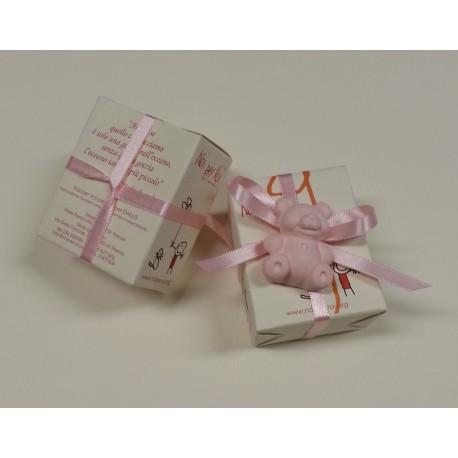 N08 Oresetto rosa in gesso colorato