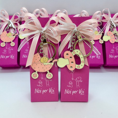 N17- Portachiavi nascita rosa