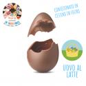Uovo Pasqua Stagnolato in cestino di feltro - Latte