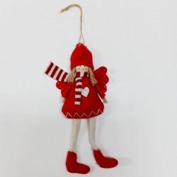 Decorazione da appendere - bambolina rossa